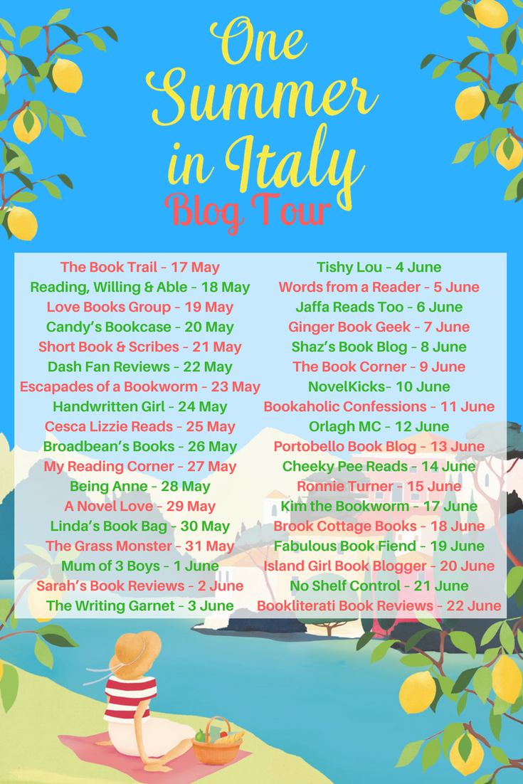 Blog Tour: Recipe and Review of One Summer in Italy by Sue Moorcroft